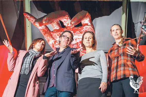 • Jane Davidson, John Reid, Simone McGurk and Georgia Wesley. Photo by Jeremy Dixon