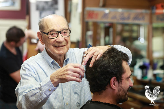• Norm Wrightson is throwing a soiree to celebrate the 80th anniversary of his former barber shop, which was opened by his dad when he was still in short pants. Photo by Jeremy Dixon