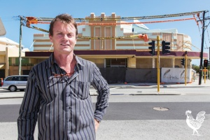 • John Douglass says Western Power is holding up his medical suite redevelopment of the old Beacon Theatre in Fremantle. Photo by Matthew Dwyer