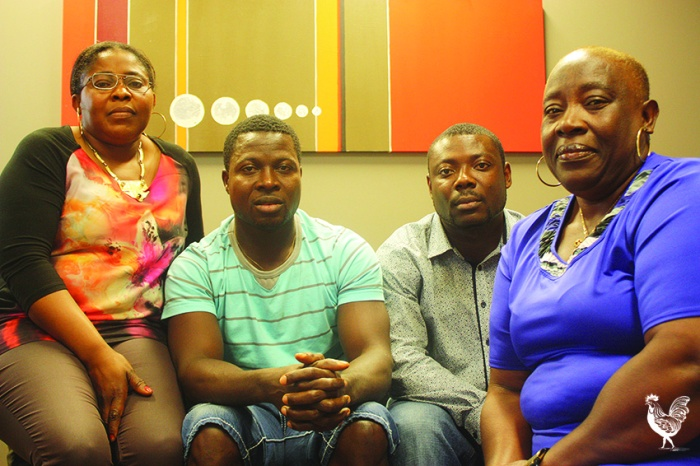 • Susan Kpatar, Dennis Gaye Jr, Nathaniel Nyanfore and Josephine Doe say Australia needs to do more to help fight ebola. Photo by Steve Grant