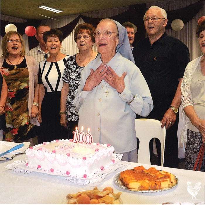 • Sister Carnisius celebrates her birthday with past students and well-wishers at the Croatian Community Centre in North Fremantle.