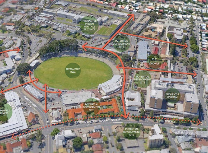 Fremantle Oval precinct includes new developments at Stan Reilly.