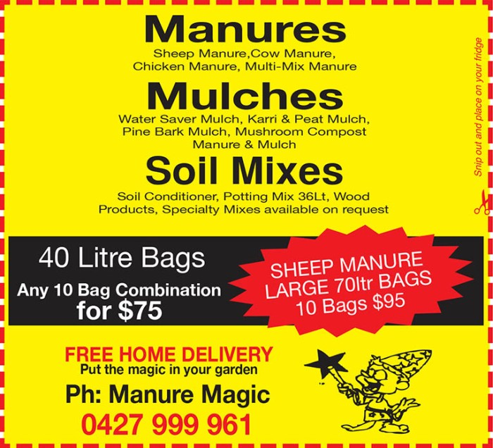 17 Manure Magic 10x3