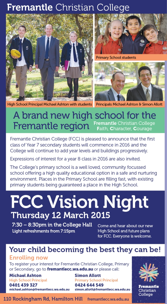 Fremantle Christian College 20x3
