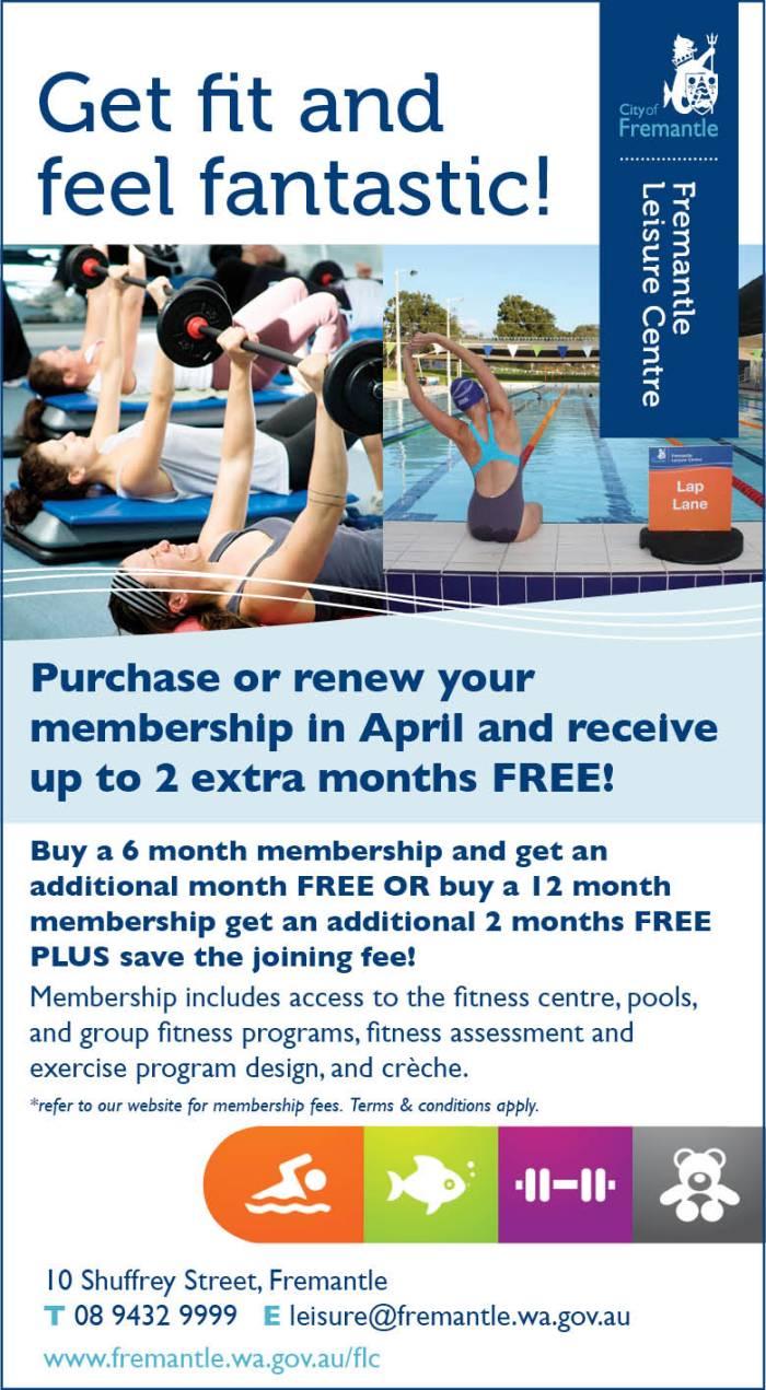 16. Fremantle Leisure Centre 20x3