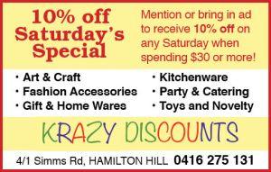 4. Krazy Discounts 5x2