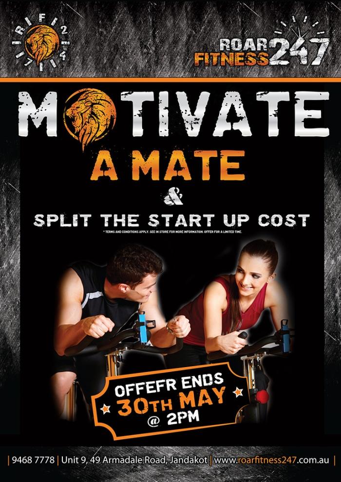 RoarFitness motivate a mate