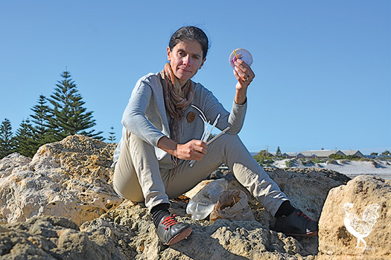 • Anti-plastic campaigner Rebecca Prince-Ruiz, of South Fremantle, picks up litter every day.