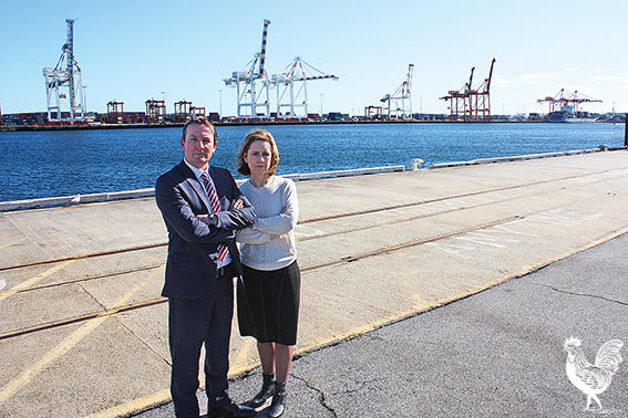 •Opposition leader Mark McGowan and Fremantle MP Simone McGurk say Labor will use every blocking move it can to slow down the sale of Freo port. Photo by Steve Grant