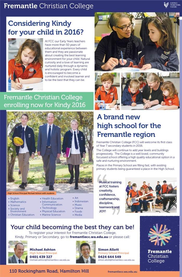 24. Fremantle Christian College 40x7
