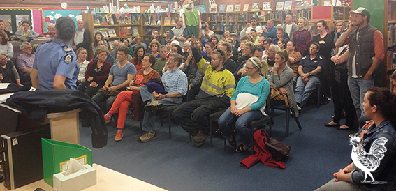• White Gum Valley residents met this week in response to drugs-fueled crime in the suburb. Photo by Steve Grant