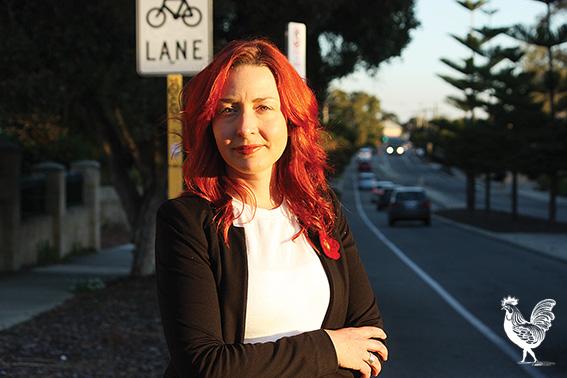•Fremantle councillor Rachel Pemberton is launching a petition to get trucks banned from Hampton Road.PhotobySteveGrant