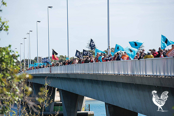 • About 1000 people rallied against the Perth Freight Link last weekend. Photo supplied | by Ellen McCarthy