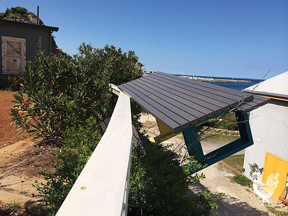 •Vandals chucked this picnic table over the cliff near the Round House last weekend. Photosupplied
