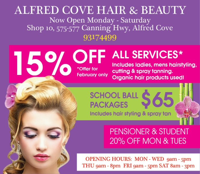13. Alfred Cove Hair and beauty 10x3
