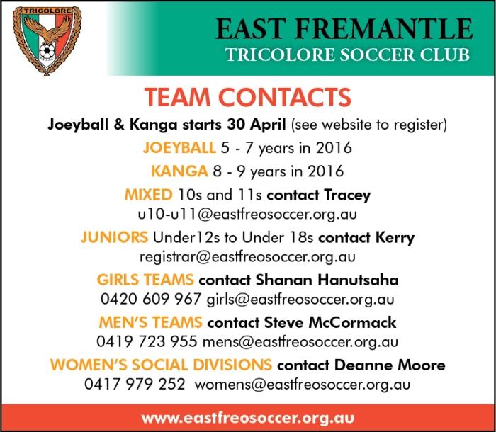 East Fremantle Soccer Club 10x3