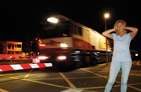• Alison Batcheler: one of many calling for a train curfew between 11pm and 7am. Photo supplied | Paul McGovern