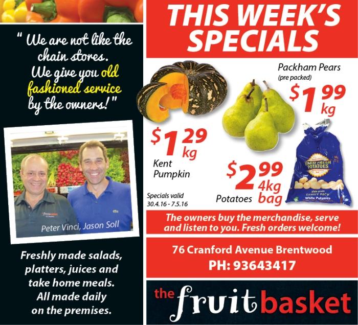 Fruit Basket 8x3.5