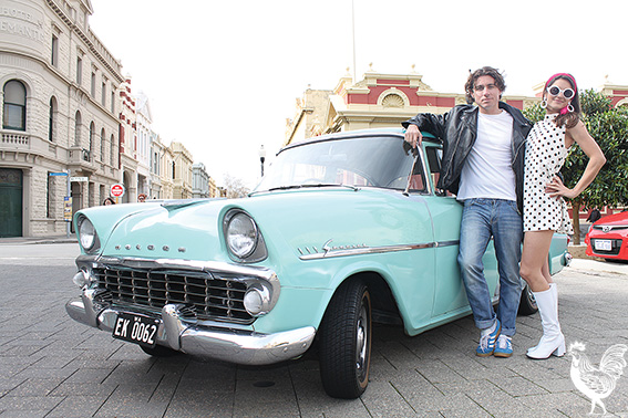 • Adin Lang and Paula Link are going retro for the Fremantle Heritage Festival. Photo by Stephen Pollock