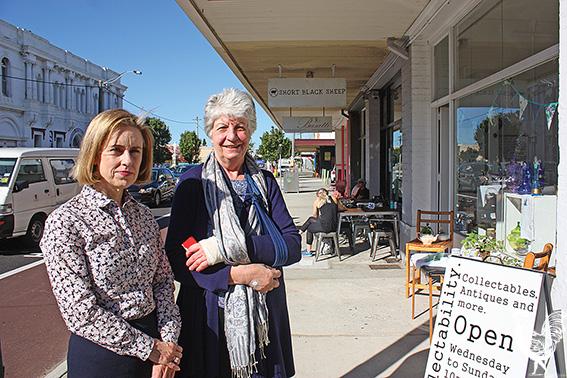 •Fremantle MP Simone McGurk with Eclectability owner Sharon Misenko.