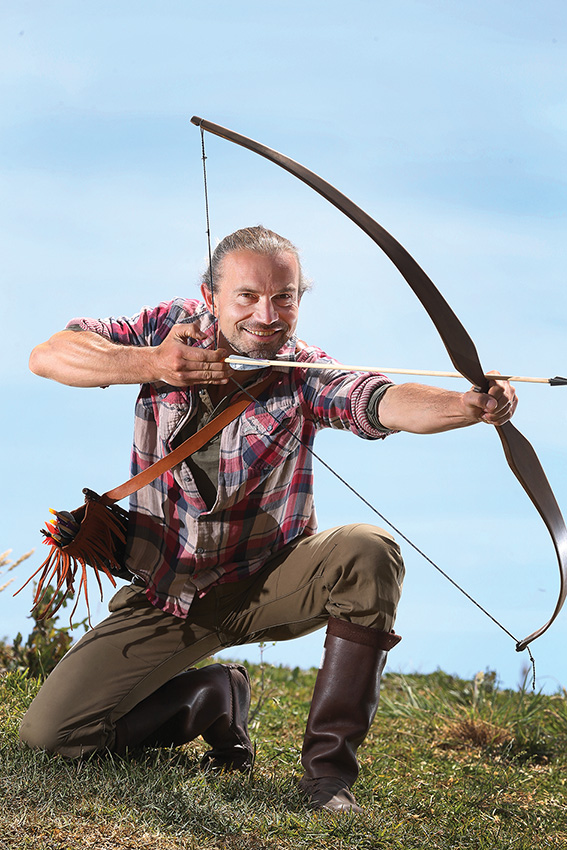 Moriac craftsman and wellness warrior Lars Richter holds classes on how to make longbows. Picture: Peter Ristevski