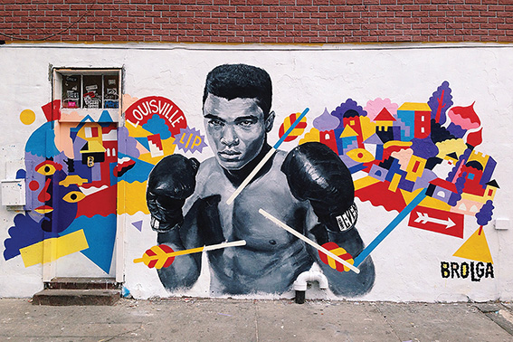 • Brolga's completed Ali tribute.