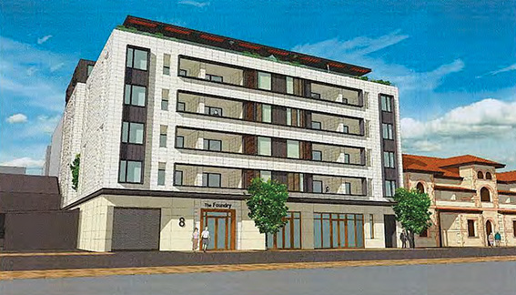 • Artist's impression of The Foundry apartments.