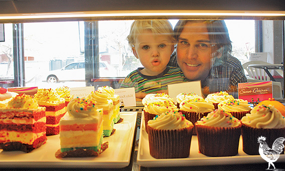 • Archer Morphett's dad Blake might own a cake shop, but the display cabinet never loses its thrill. Photos by Steve Grant