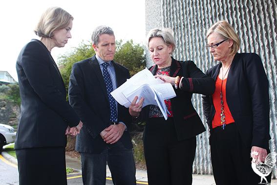 • Fremantle Labor MP Simone McGurk, Fremantle federal MP Josh Wilson, Alannah MacTiernan and Bicton Labor candidate Lisa O'Malley. PhotobyStephenPollock