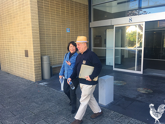 • Gary Crawford leaves Fremantle magistrate's court with his wife. Photo by Stephen Pollock