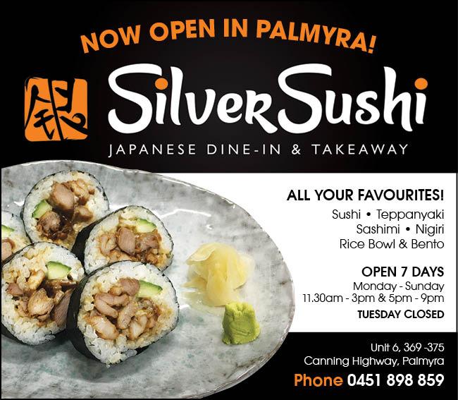 30 Silver Sushi 10x3