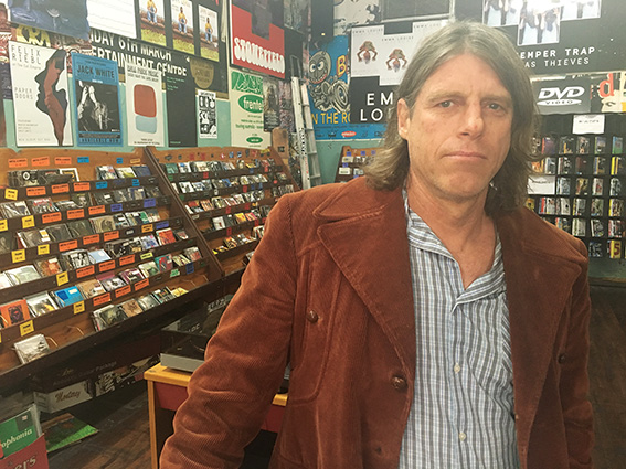 • Mills Records owner Andrew Bailey. Photo by Stephen Pollock
