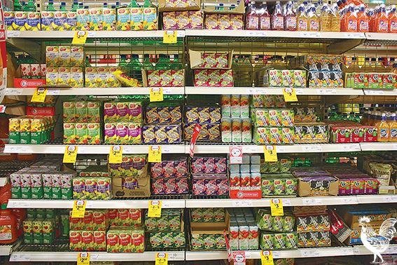• Millions of juice boxes line supermarket shelves, but what happens to all those straws and their plastic wrapping? Photo byKoroBrown