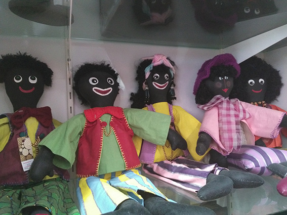 • Golliwogs on sale in Twisted Sisterz.