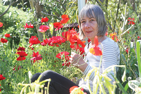 • Christine Duckham's opening her garden to raise awareness about wildlife corridors and Hami Hill's need for a community hub. Photo by Steve Grant
