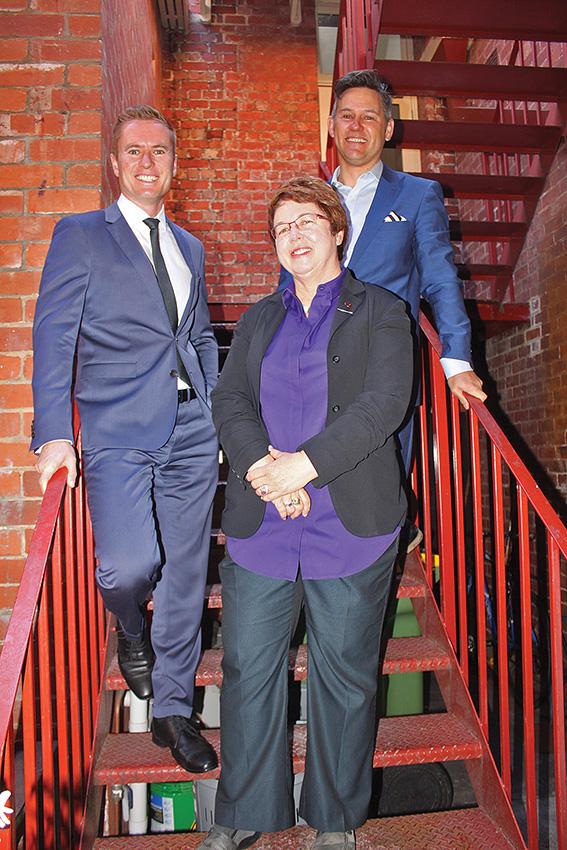 • Greens MLC Lynn MacLaren, state heritage minister Albert Jacob and Fremantle mayor Brad Pettitt.