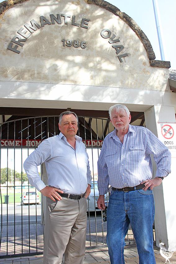 • Former Fremantle mayors Peter Tagliaferri and Richard Utting. PhotobyStephenPollock
