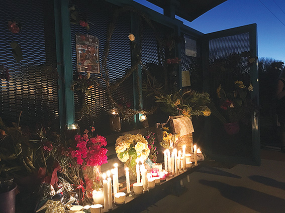 • Locals held a vigil for murdered Coolbellup father Ian Bosch last weekend. Photo supplied
