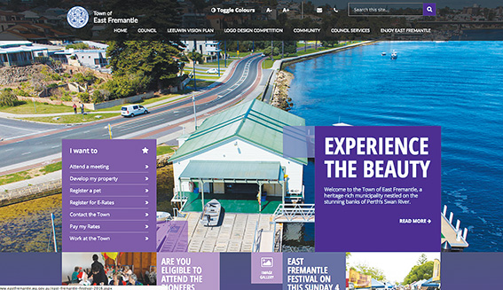 • East Fremantle council's homepage.