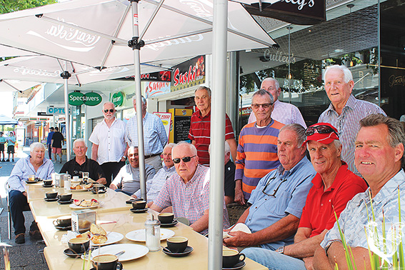 • Mal Brown and his Bulldogs colleagues from the 60s and early 70s meet up for a cup of coffee and a chat at Culley's.