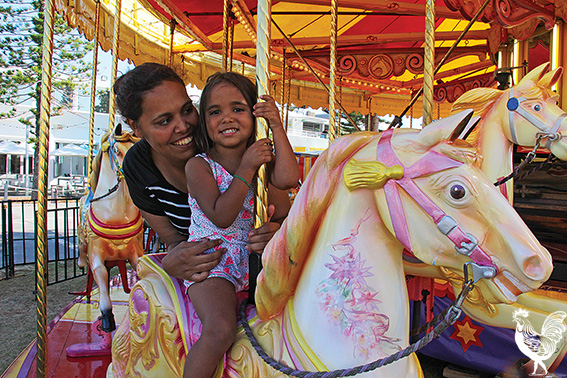 • Holly and Aaniyah Yates came to Freo from Lockridge to enjoy the scenery and fireworks, unaware of the furore surrounding Freo council's decision to cancel its festivities.
