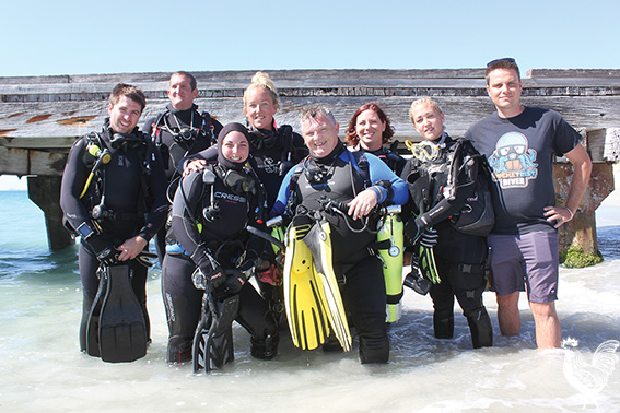 • Divers at Ammo Jetty volunteering for a clean-up.  Photo by Stephen Pollock by STEPHEN POLLOCK