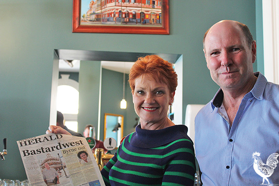 • Pauline Hanson and candidate Sean Butler.
