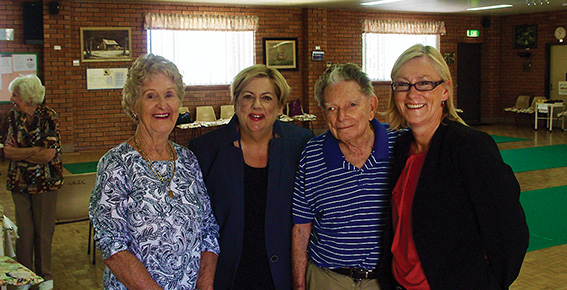 • Val Timewell, Margaret Quirk, Bob Howe, and Lisa O'Malley. Photo supplied