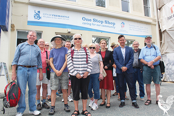• Local seniors with mayor Brad Pettitt and Labor MP Simone McGurk.
