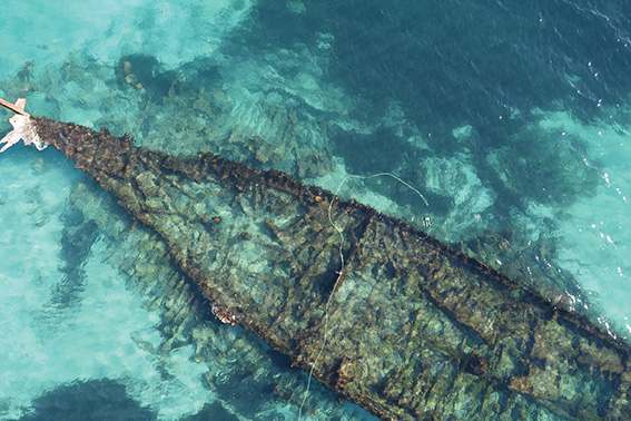 • Wreck of the Omeo. Photo supplied