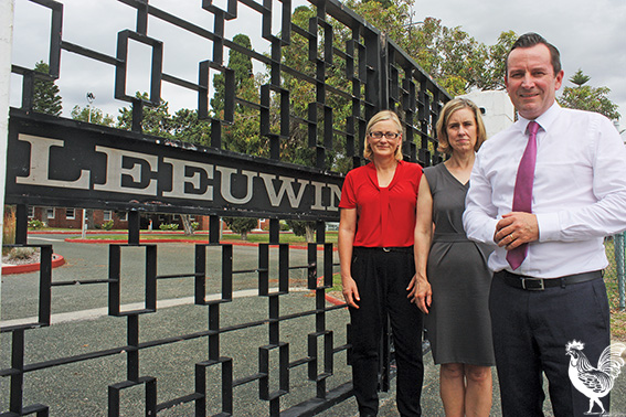 • Mark McGowan with Lisa O'Malley and Simone McGurk.