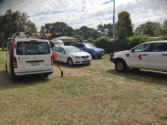 • A day or two after the Chook's story, three Telstra vehicles were out trying to sort out a phone for the men's shed.
