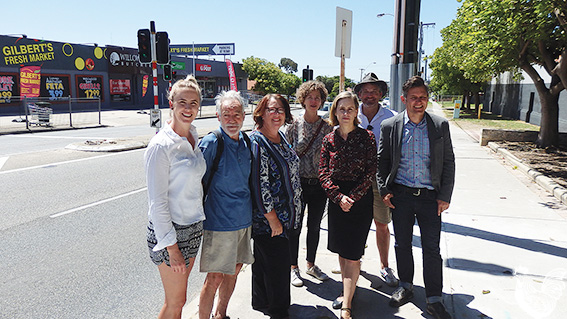• Simone McGurk, Brad Pettitt and local residents concerned about pedestrian safety. Photo by Jasmine Kazlauskas