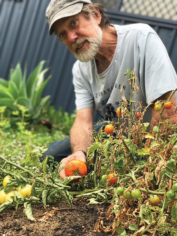 • Graham Johnson discovered his green thumb at the Fremantle Men's Shed. Photo by Alex Marshall